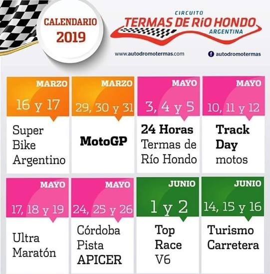 Moto Gp Calendario.Las Termas De Rio Hondo Turismo Salud Rio Hondo Santiago Del